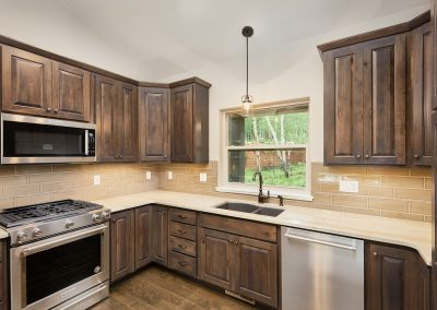 13) Woodland Cottage Interior Kitchen Sink Cabinets_