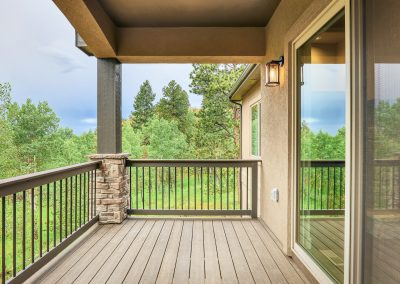 17) Woodland Cottage Back Porch Sliding Glass Door