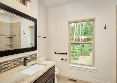 27) Woodland Cottage Second Bathroom Window Sink Counter Mirror