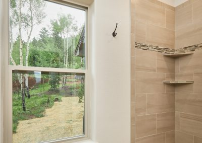 28) Woodland Cottage Second Bathroom Window Shower